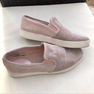 Michael Kors blush pink suede loafers, 8.5M